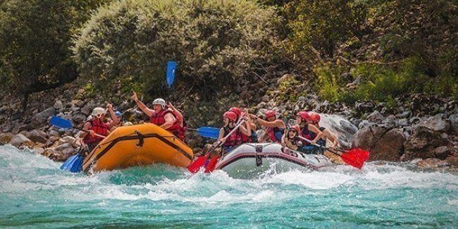 Kamp in rafting