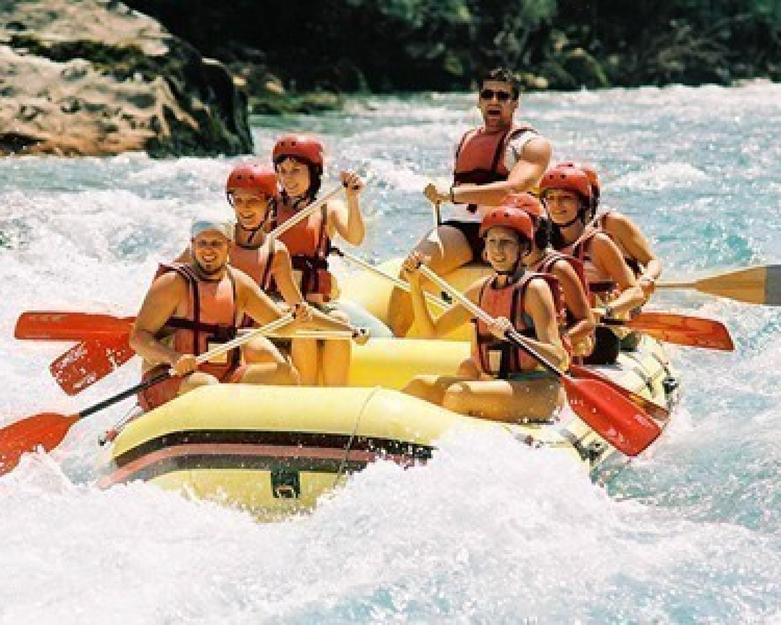 Rafting in hiking