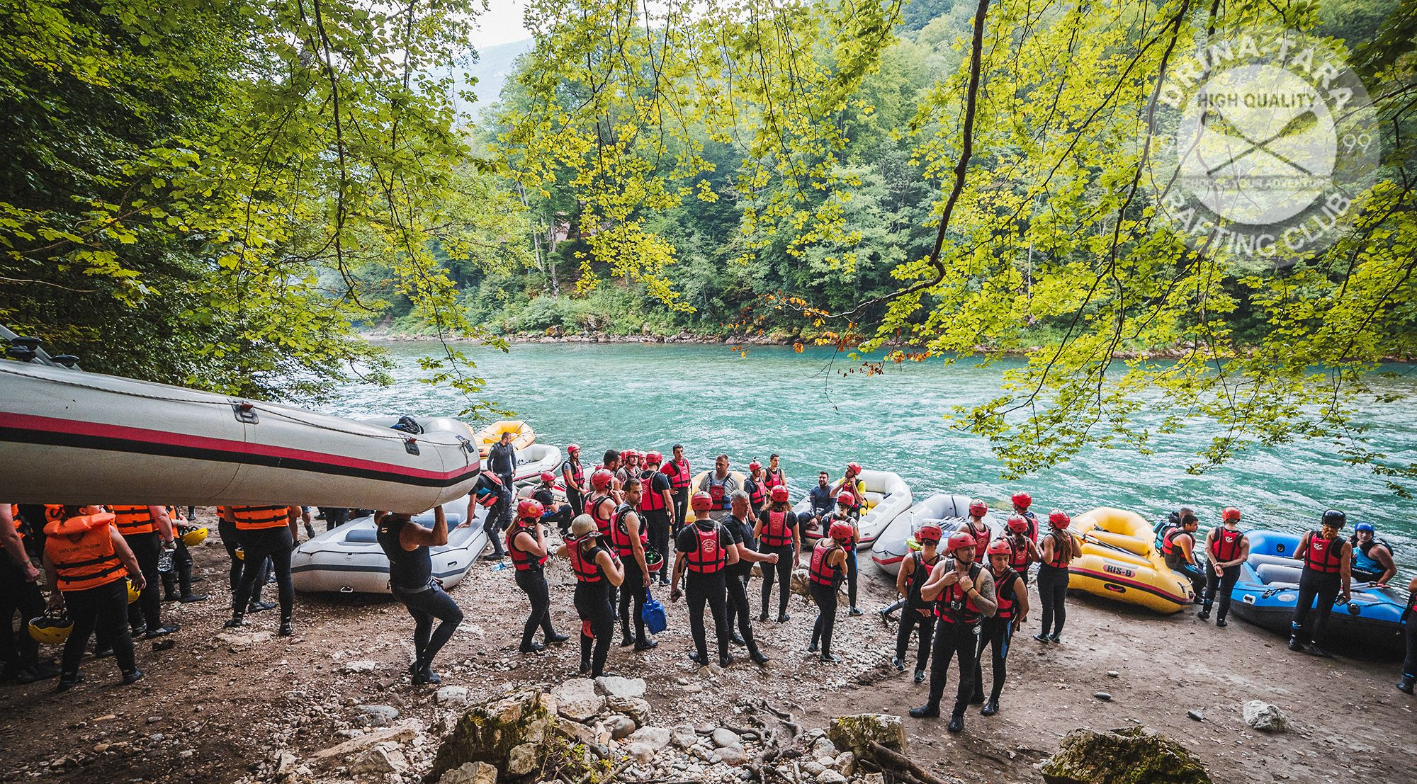 spring rafting on the Tara river