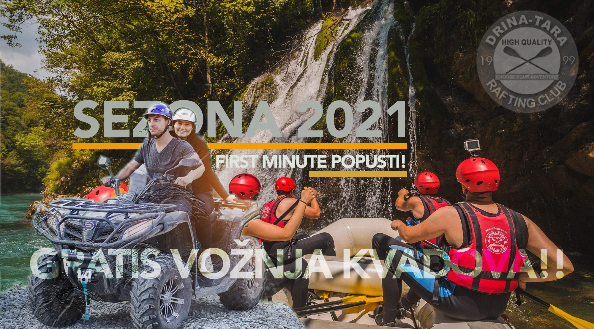 Rafting Centar Drina-Tara, first minute rezervacije 2021