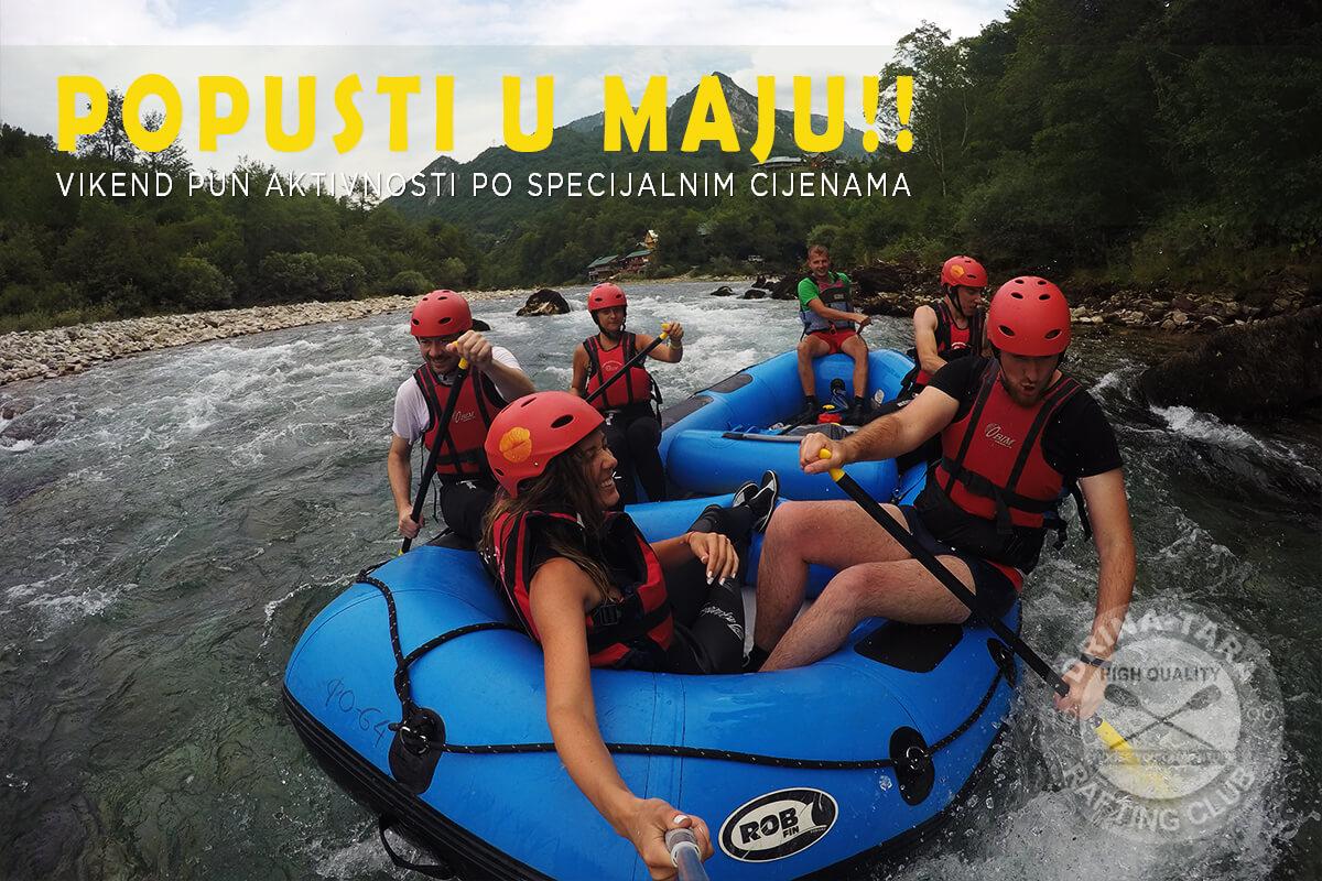 MAJSKI POPUSTI!! Vikendi za adrenalinski rafting i 4x4 Jeep safari za samo 95€!!
